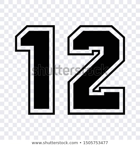 1,2 - number of football, Soccer number Stock photo © Archipoch
