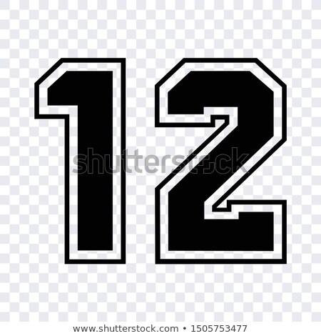 12 · aantal · voetbal · voetbal · zwarte · gegevens - stockfoto © Archipoch