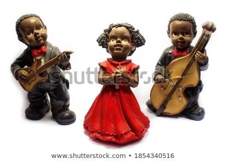 Statuetka Afryki dziewczyna czarny twarz ciało Zdjęcia stock © cookelma