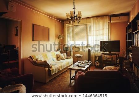 elhagyatott · lakás · belső · öreg · otthon · szoba - stock fotó © leungchopan