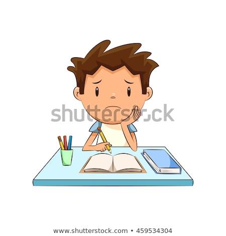 okul · matematikçi · aşağı · yalıtılmış · kitap - stok fotoğraf © dacasdo