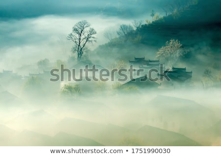 Paysage vieille maison village ciel arbre vert Photo stock © LoopAll