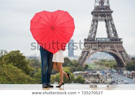 カップル · パリ · エッフェル塔 · 空 · 愛 · 市 - ストックフォト © pkirillov