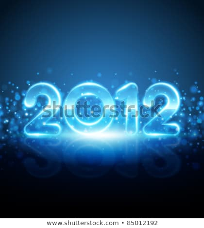 Lumineuses couleur nouvelle année 2012 star Photo stock © aispl