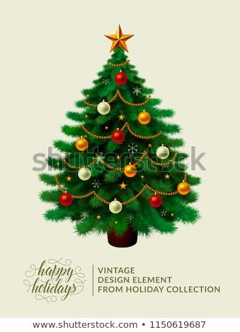vecteur · arbre · suspendu · étoiles · lumière - photo stock © aispl