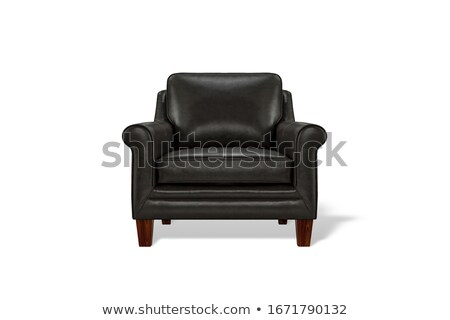 image of a modern leather armchair isolated stock photo © ozaiachin