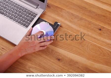 Blauw · cd · witte · papier · muziek · technologie - stockfoto © scornejor