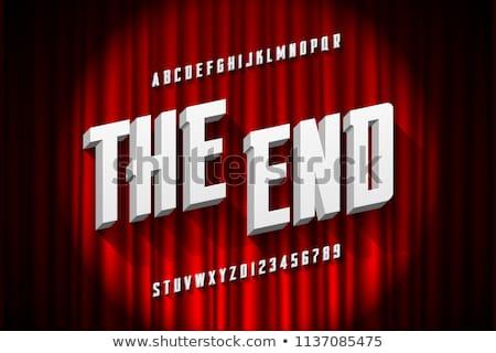 the end movie Stock photo © njaj