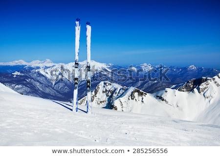 panorama · narciarskie · szeroki · alpejski · narty · lodowiec - zdjęcia stock © pkirillov