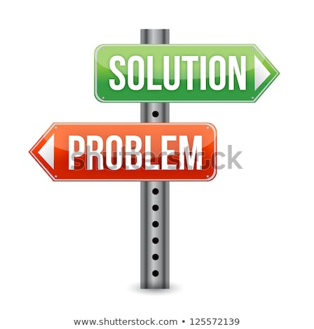 signpost pointing to problems and solutions stock photo © latent