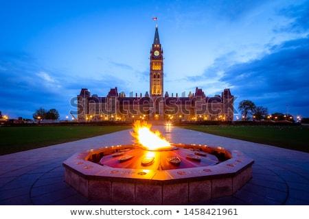 chama · ver · parlamento · edifício · cidade · viajar - foto stock © Rambleon