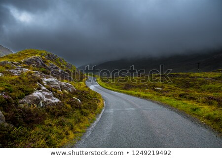 single track road on scottish isle Stock photo © gewoldi