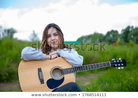 Stockfoto: Portret · mooi · meisje · wollen · trui · vrouw · gezicht