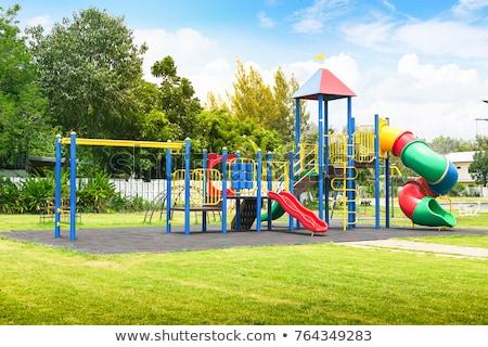 Dziecko boisko Fotografia gry rodziny sportu Zdjęcia stock © brebca