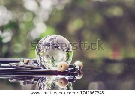 Stethoscoop wereldbol wereld problemen Stockfoto © devon