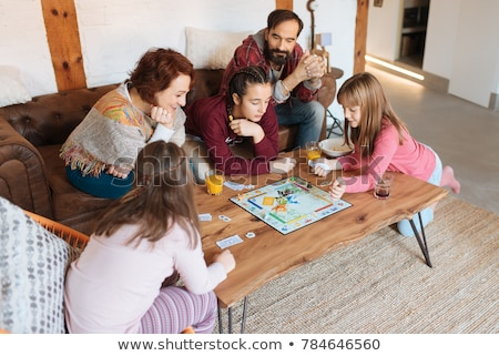 familie · spelen · bordspel · home · kinderen · man - stockfoto © photography33