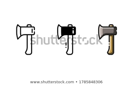 Woodworker with a hatchet Stock photo © photography33