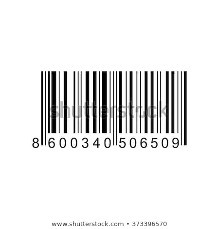Stock photo: price tag with bar code