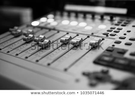 Studio mixer detail full frame muziek audio Stockfoto © prill