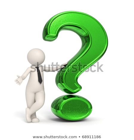 3d human character with a green question mark stock photo © johanh