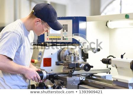 Aprendiz trabalhando fábrica negócio edifício construção Foto stock © photography33