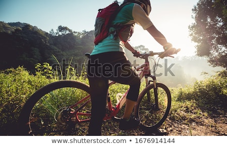 女の子 女性 自転車 白 笑みを浮かべて 休日 ストックフォト © photography33