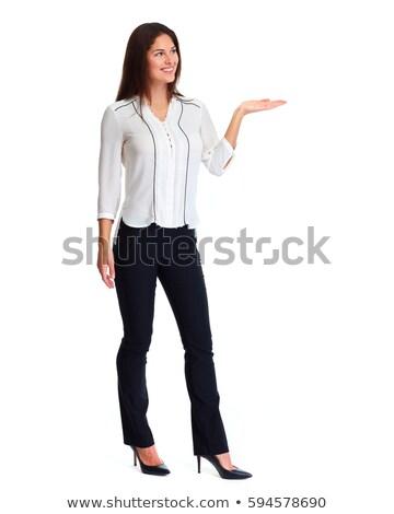 femme · d'affaires · quelque · chose · imaginaire · blanche · femme - photo stock © feedough