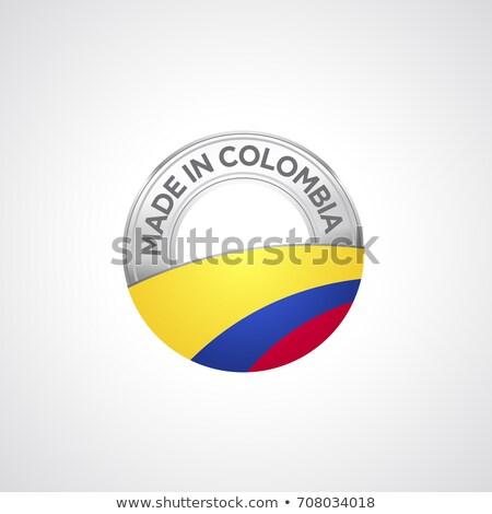 Vektör etiket Kolombiya renk damga satış Stok fotoğraf © perysty