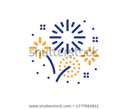 カラフル 花火 爆発 オレンジ 青 を祝う ストックフォト © Kenneth_Keifer