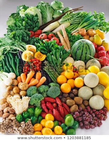 Heap of Raw Organic Vegetables stock photo © zhekos