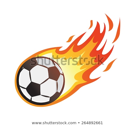 soccer flaming ball vector illustration stock photo © chromaco