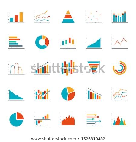 Seta gráfico traçar negócio estratégias Foto stock © fixer00