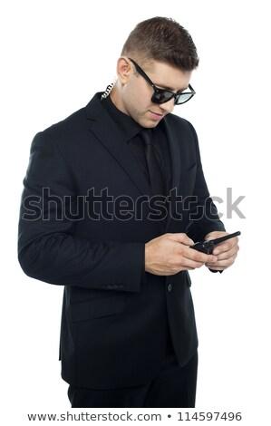 безопасности · офицер · числа · изолированный · белый · технологий - Сток-фото © stockyimages
