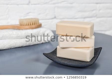 rácsok · szappan · fürdősó · törölköző · szépség · bár - stock fotó © melpomene