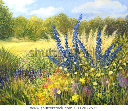 Stock photo: Painting a field full of wild flowers