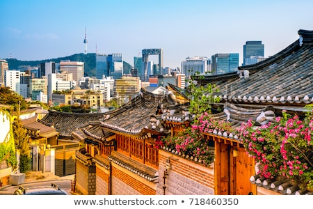 Tradicional casa Seul Coréia do Sul palácio Foto stock © travelphotography
