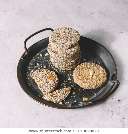 Raw Sugar granules on breakfast cereal Stock photo © sherjaca