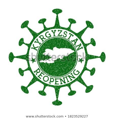 Mail Kirgizië afbeelding stempel kaart vlag Stockfoto © perysty