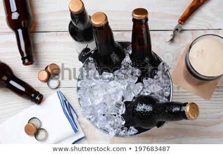пусто пива позиции изолированный белый фон Сток-фото © HectorSnchz