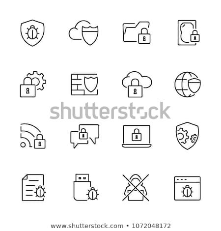 Wirusa symbol chorych stop ochrony zdrowych Zdjęcia stock © dagadu