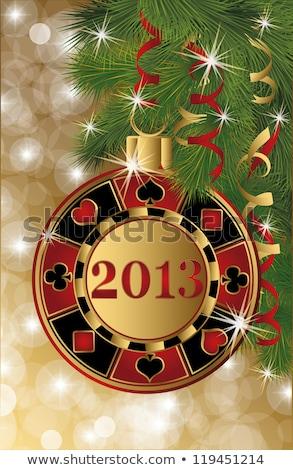 クリスマス カジノ バナー 2013 ポーカー チップ ストックフォト © carodi