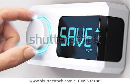 Enerji tüketim mutlu sanayi portre şapka Stok fotoğraf © photography33