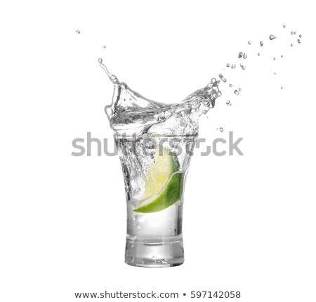 Tiro vodka água cair álcool Foto stock © antonprado