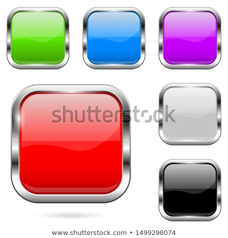 Stock photo: Set of glossy buttons