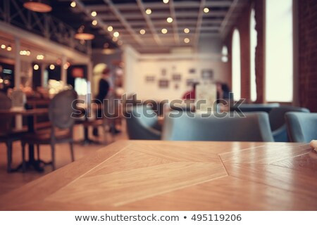 tables in restaurant decoration tableware empty dishware stock photo © juniart
