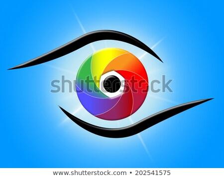 absztrakt · szín · nyílás · űr · minta · szöveg - stock fotó © maxmitzu