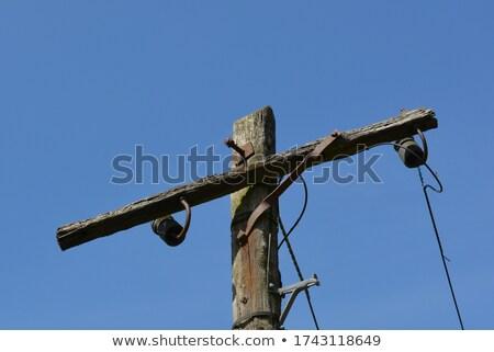 古い · 孤立した · 白 · 技術 · 電話 · キー - ストックフォト © jonnysek