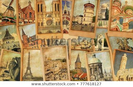 レトロスタイル パリ 美しい パリジャン 通り ヨーロッパ ストックフォト © ilolab