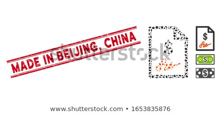China · oval · grunge · texto · dentro - foto stock © 5xinc
