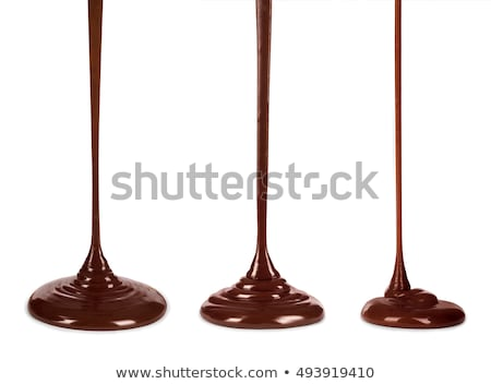 drinks hot chocolate or cocoa flow on black stock photo © arsgera